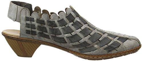 Rieker 46778-40, Chaussures à talons avec bride à l'arrière femme Gris - Gris