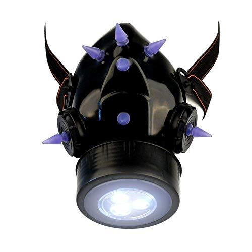 MB-Müller 87323-005-000 - Máscara de gas con pinchos UV y luz LED, unisex, color negro