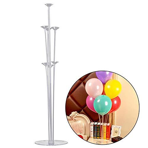 Aolvo Ballon-Säule Ständer, transparent, wiederverwendbar, langlebiger Kunststoff, Ballon-Display Halter, Dekoration, für Geburtstag, Hochzeit, Party, Weihnachten, Event (Packung mit 23 Stück)