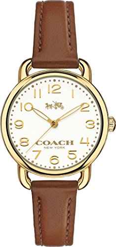 Coach 14502248 Ladies Delancey Brown Leather Strap Watch