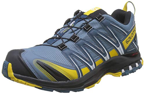 Salomon Herren Trail Running Schuhe, XA PRO 3D GTX, Farbe: blau (Bluestone/Indian Teal/Sulphur) Größe: EU 49 1/3