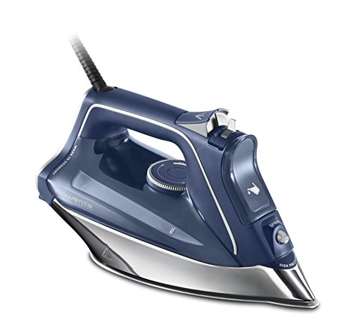 Rowenta ProMaster Plancha, Golpe 200 g Vapor Continuo de 40g/min, con Suela Microsteam 400 HD Profile, Modo Eco y Sistema antical Integrado, 2800 W, 0.3 litros, Azul