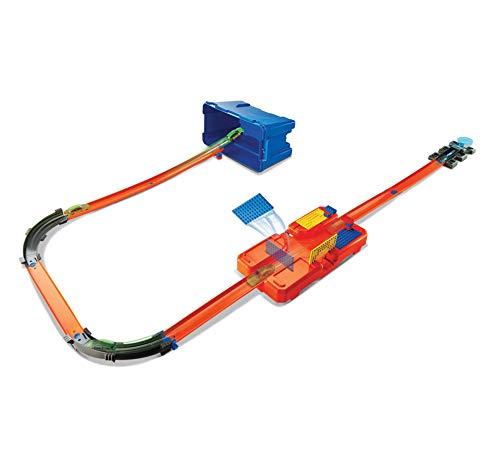 Hot Wheels Accessoires Boite Cascade, coffret de jeu pour petites voitures avec circuit et pistes, Jouet pour enfant, DWW95