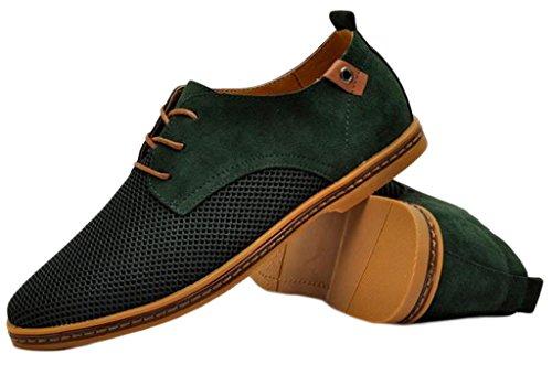 EOZY Soulier Homme Casuel Chaussure en Cuir Chaussure de Ville à Lacets Vert