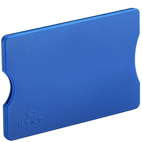 KTX7® RFID Schutzhülle aus Kunststoff für Kreditkarten, Personalausweis, EC-Karten, Bankkarten (Blau, 3 Stück)