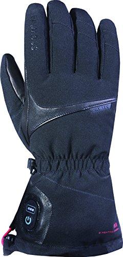Snowlife Skihandschuhe Snowboardhandschuhe Damen mit Akku beheizbar in 3 verschiedenen Wärmestufen, einfach zu bedienen, wind- und wasserdicht durch DRYTEC Membrane, ideal für Ski- und Wintersport Heat DT Glove, schwarz, L/M