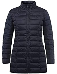 b4670c31 JACQUELINE de YONG by Only Britt Women's Quilted Coat Parka Outdoor Jacket  with High-Neck