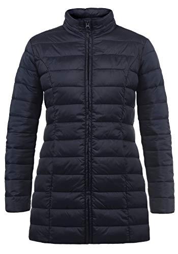 ONLY Britt Damen Winter Jacke Mantel Steppmantel Winterjacke gefüttert mit Stehkragen, Größe:XL, Farbe:Night Sky