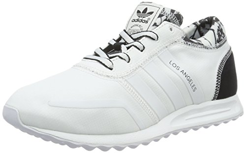 adidas Los Angeles, Baskets Basses Femme, 42 EU Blanc (Ftwr White/Ftwr White/Core Black)