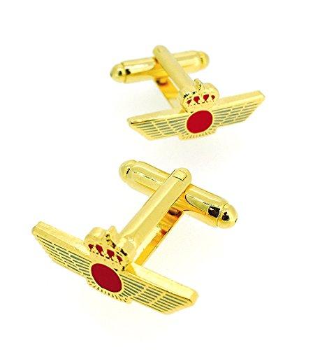 Gemelolandia Boutons de manchette de chemise emblème armée de l'air espagnol du