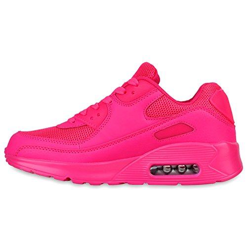 Knallige Damen Herren Unisex Sportschuhe | Auffällige Neon-Sneakers | Sportlicher Eyecatcher für Ihren Alltags-Look | Angenehmer Tragekomfort | Gr. 36-45 Pink