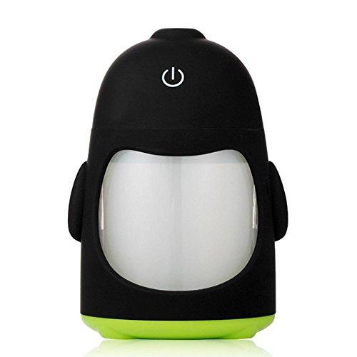 CFZHANG Pinguin Luftbefeuchter Mini USB Aufladung Stille Duft Atmosphäre führte buntes Nachtlicht zu Hause , green