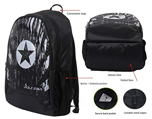 POLESTAR Amaze 30 LTR Black Casual/Travel Backpack with Laptop Compartment Image 5