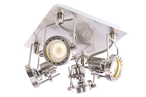 LED SMD 1x3W 2x3W 3x3W 4x3W Wandlampe Deckenlampe Wandstrahler Deckenstrahler (4 Flammig)