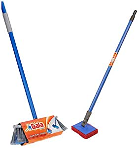 Gala 132780 Mr. Tall Floor Mop + Gala Scrubber with Long Handle (Multicolor)