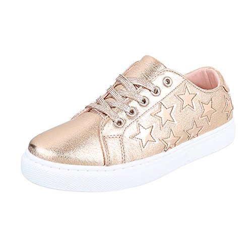 Ital-Design - Low-top Donna oro Rosa