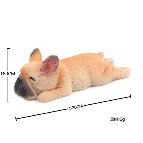 SunBai Absatz ende Serie kleine Französische Bulldogge Modell Chai Hundeführer dodiy Kühlschrank Pasten Puppe magnetische Aufkleber, Lady liegen) (Puppe Kühlschrank)