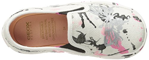Geox - JR Kilwi Girl - Sneakers Basses - Fille Blanc (White/Fuchsiac0563)