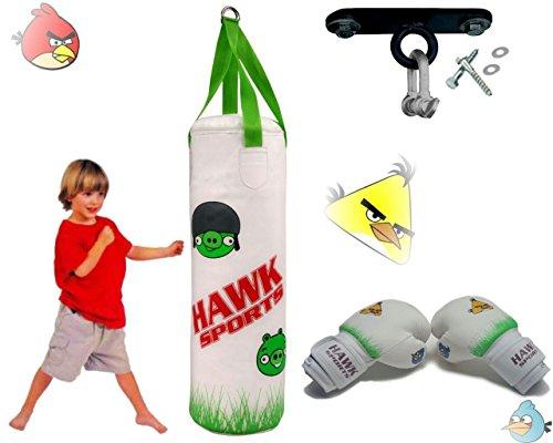 Hawk de boxe 0,9m garni enfants Sac de frappe kit de boxe de gants de 170,1gram Kick Junior enfant