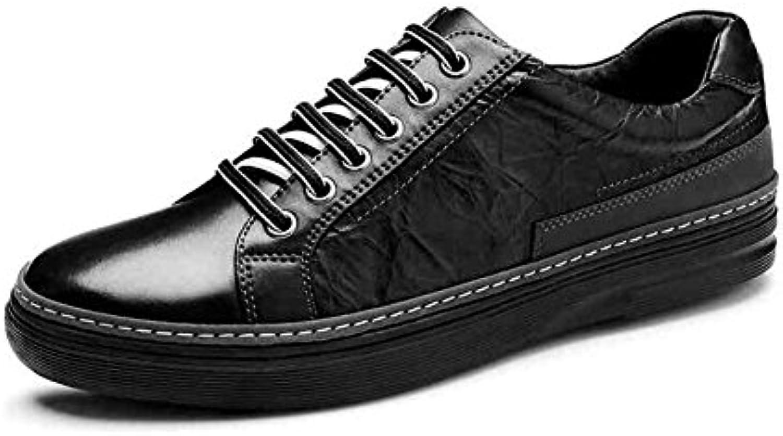 YIXINY Schuhe Sneaker Männer Flache Schuhe PU übung Geschäft Plate Schuhe Student Frühling Und Herbst Schwarz