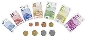Goki 51853 - Imitation - Argent Factice - 84 Billets de Banque en Papier - 32 Pièces de Monnaie en Plastique