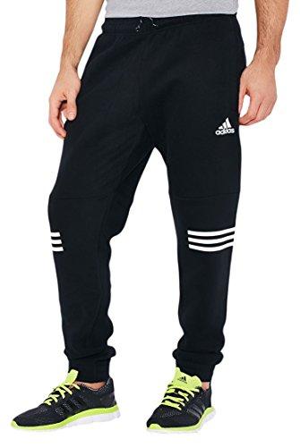 adidas Herren Essentials Linear 3 Streifen Hose, Schwarz/Weiß, XS, AB6278 Preisvergleich