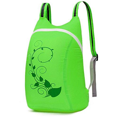YYY-Outdoor pieghevole ultraleggera pacchetto primavera ed estate casuale borsa a tracolla per uomini e donne , dark green Green