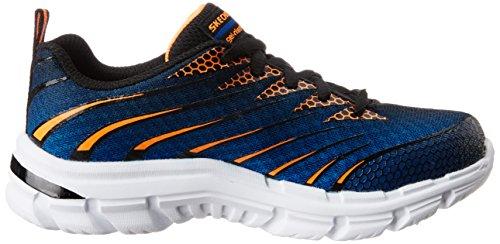 Skechers Nitrate, Sneakers Basses garçon Bleu (Royal Orange)
