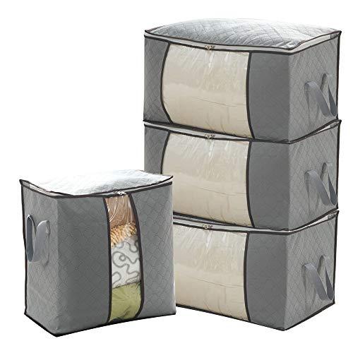 BONAOK Aufbewahrungstasche für Kleidung Decke Quilts 4er