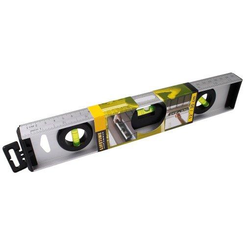Wasserwaage Aluminium 30cm mit Lineal CM und INCH