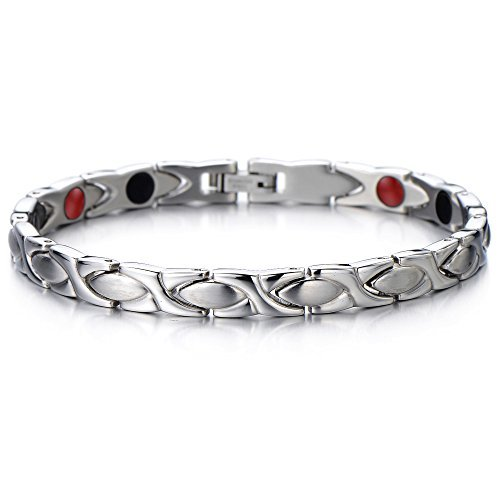 steel-ladies-link-bracelet-with-magnets-germanium-negative-ion-far-infrared-free-link-removal-kit