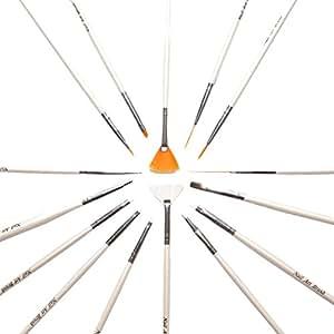 15 Pcs Acrylic Nail Art Design Painting Pen Brush Set