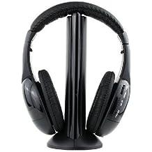 Auriculares cascos inalámbricos wireless FM radio micrófono ...