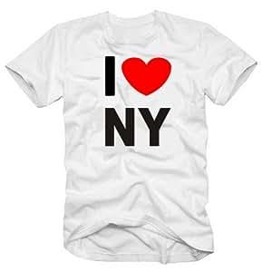 I love NY white - T-SHIRT, sz.S