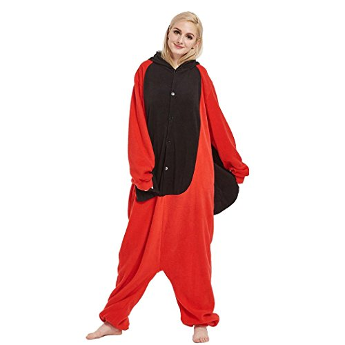 HXQ Tier Rot Cosplay Kost¨¹m Mit Kapuze Unisex Erwachsenen Pyjamas - Marienkäfer , S: (height 150-158cm)
