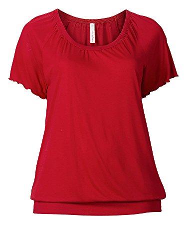 sheego Casual Damen Shirt große Größen Rot