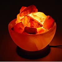 SourceDIY FIREBOWL CRAFTED HIMALAYAN CRYSTAL ROCK SALT LAMP WITH BUTTON SWITCH AND BRITISH STANDARD ELECTRIC PLUG. 100% AUTHENTIC AND FINE QUALITY