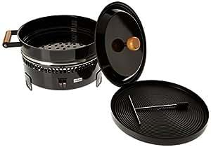 Steckli - Four e marrons avec Grill et Crepiere - noir