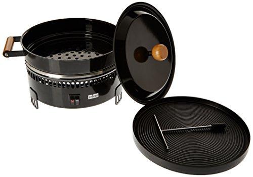 Stöckli Ofen Marroni mit Grillplatte, schwarz, 2 Stufen-Schalter,  0085.52