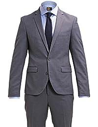 Pier One Traje de Hombre Slim Fit Azul/Negro / Gris - Traje para Hombre