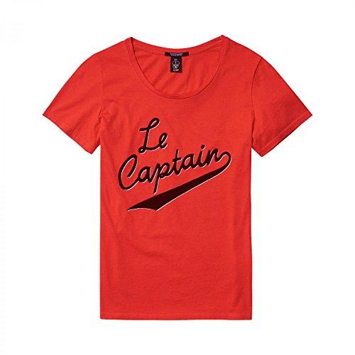 Scotch & Soda Maison Damen Regular Fit Artwork T-Shirt Crimson