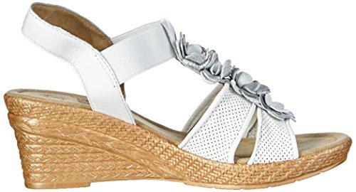 Jana 28304 Damen Offene Sandalen Weiß (White 100)