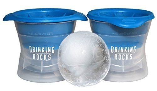 Sfera Stampo per il ghiaccio. Premium Ice Ball Maker. Crea cubetti di ghiaccio, Palline da 2,5pollici. Tenere le bevande fresco più a lungo. Meno superficie con design sferico. Set di 2.