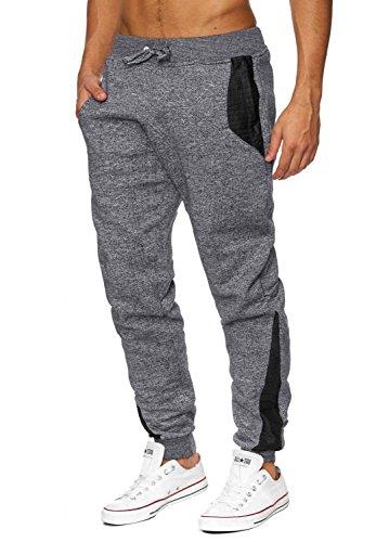 Uomini pantaloni da jogging   (Comfort Fit) Sweat Pant Sport Tempo pantaloni correnti fitness, sezione harem più leggero   H1642 Hellgrau