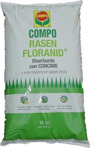 rasen floranid concime per prati con azione diserbante in conf. da 15 kg