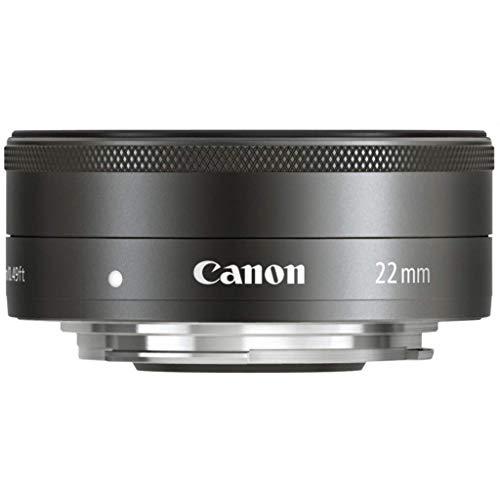 Canon Objektiv EF-M 22mm F2 STM Pancake Objektiv Lens für EOS M (Festbrennweite, 43mm Filtergewinde, Servo Autofokus) schwarz