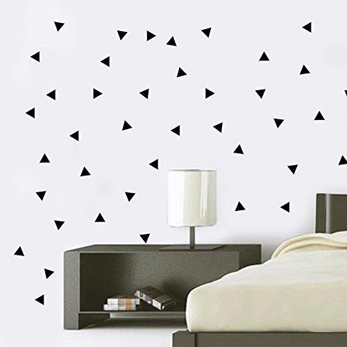 Geometric triangle wall stickers 42 x 50cm removable vinyl wall decal multi styles decorative waterproof sticker
