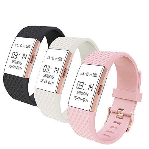 Wearlizer für Fitbit Charge2 Armband, Silikon Ersatz Bands für Fitbit Charge 2 Armband Special Edition Lavendel Rose Gold