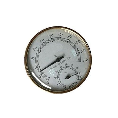 Baoblaze Sauna Hygrothermograph Thermometer Hygrometer aus Metall