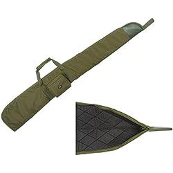 Case4Life Vert Sac Etui Protection Rembourré Carabine à air/Fusil de Chasse/Sac pour la Chasse + Bandoulière Rembourrée Amovible - Garantie à Vie
